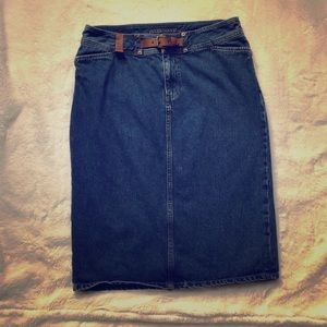 BOGO Lauren Jeans Co Premium denim midi skirt